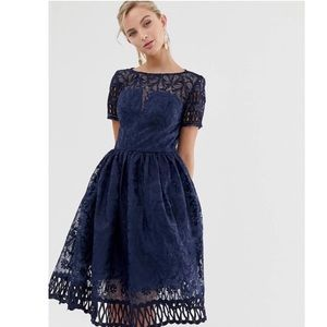 Navy Blue Flowy Women's Dress